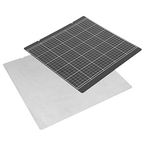 Hot Bed Sticker 3D Printer Sticker Flexible High Safety Printer Gold Sticker Black Grid 3D Printer Hot Bed Platform for Prusa i3 MK52 253.8 x 241mm