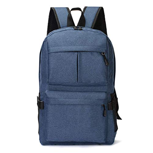 SHRAY 16 inch Men's Business Backpack USB Charging Oxford Waterproof High Capacity Travel Laptop School Backpack,Red Blue