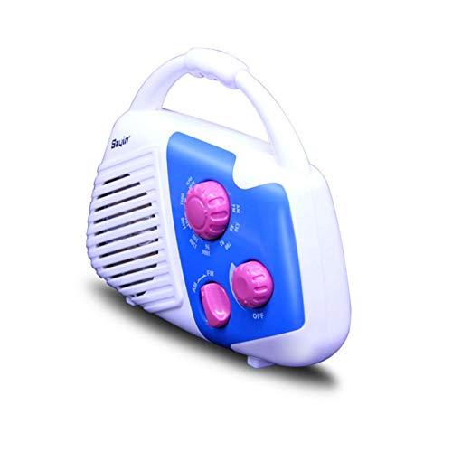 DYHF Radio AM/FM, multifuncional portátil para ducha, baño, radio de música con puerto USB y tarjeta TF (no incluye batería)