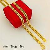 HUOQILIN Alluvialen Goldkette Goldkette Gold Galvanisierungstank Boss Herren-Kette 999 Gold-Shop Mit Dem Geld Nicht Verblassen (Color : B)