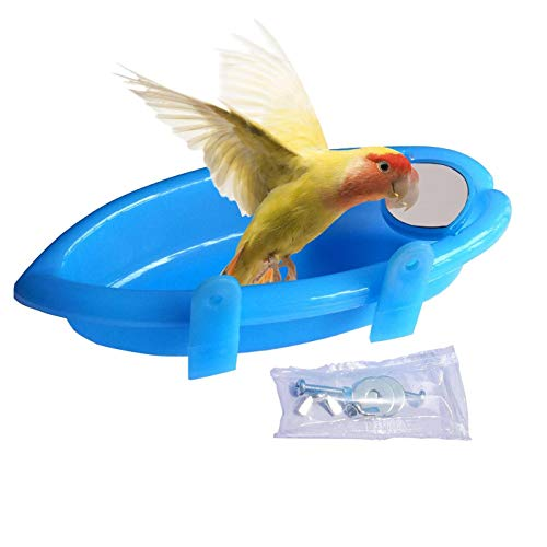 CXP Good Goods Mirrored Bird Bath Bird Accessories Suitable for Small Birds Such As Parakeets,Zebra Finches,Canaries