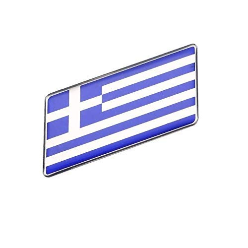 Rechteckiges Styling GRIECHENLAND National Emblem Flags Autoaufkleber 63X30mm NETANT (Farbname: GRIECHENLAND)