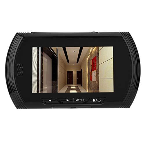 Cámara de seguridad, sistema de cámara de seguridad para el hogar de alta resolución Cámara CCTV Visor de mirilla de puerta digital para exteriores con visión nocturna Grabación de video de gran angul