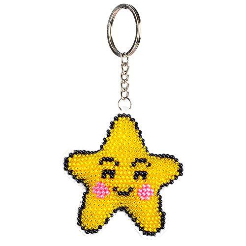 Manojo de llaves de punto de cruz con estrellas para el bolso del coche