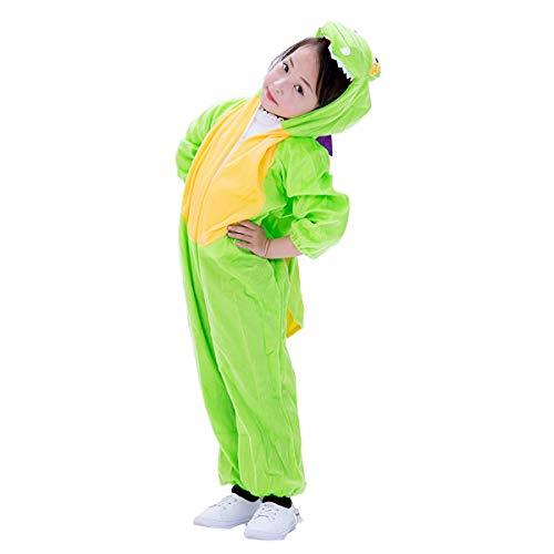 Amosfun Niños Dinosaurio Onesie Pijamas Animales Traje Cosplay Dinosaurio Mono para niños pequeños Fiesta de Disfraces Talla M