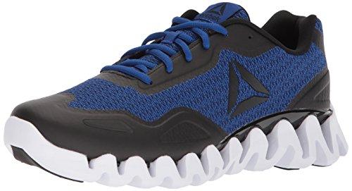 Reebok Men's Zigpulse-SE Sneaker, Knit - Black/Collegiate Royal/White, 14 M US
