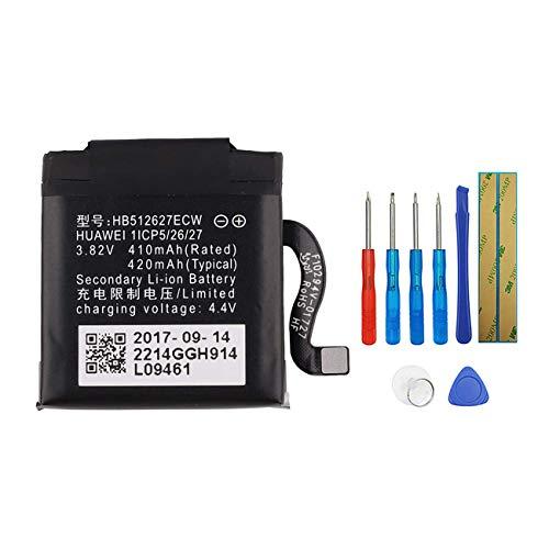E-YIIVIIL HB512627ECW - Batería de repuesto compatible con Huawei Watch 2, Watch 2 Pro, Watch GT+