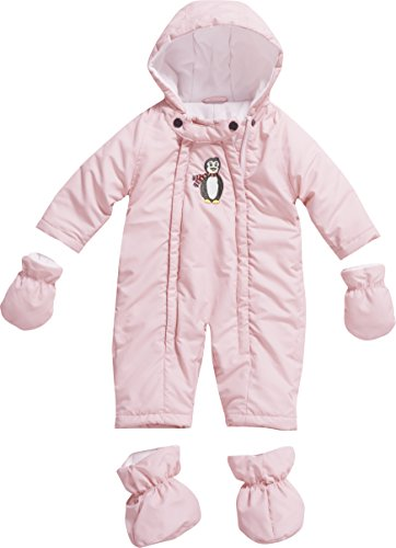 Playshoes GmbH Playshoes Unisex - Baby Schneeanzug, Schneeoverall Pinguin, Gr. 68, Rosa