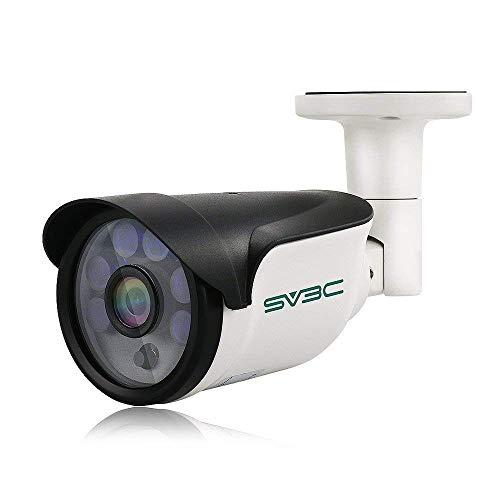SV3C POE Telecamera Videosorveglianza IP Esterno HD 3MP, Risoluzione 2048x1536, Visione Notturna fino a 15m, Protezione dall'acqua certificata IP66, Interfaccia in remoto per IOS,Android, e PC Windows