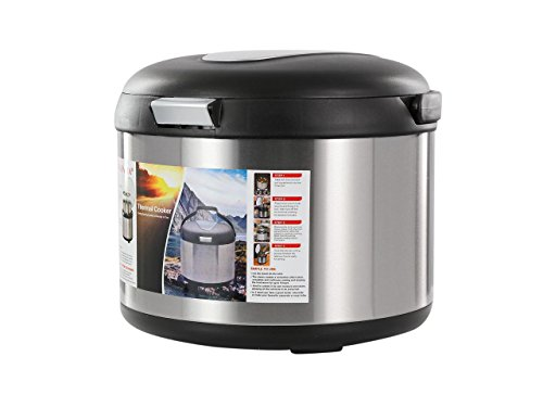 Tayama TXM-50CF Energy-Saving Thermal Cooker, 5 L, Black