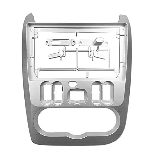 CJYTYJ Tablero de Radio de 9 Pulgadas 2din Radio de automóvil/Ajuste para Renault/Fit para Logan 1 2010-2015 GPS Panel estéreo para Montar el Panel de Coche Dual DIN CD DVD Frame