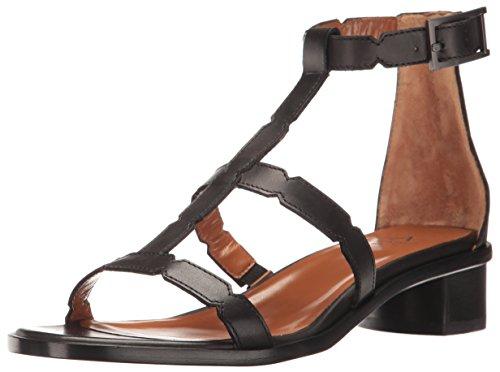 Aquatalia Women's RISA Calf Sandal, Black, 9.5 M US