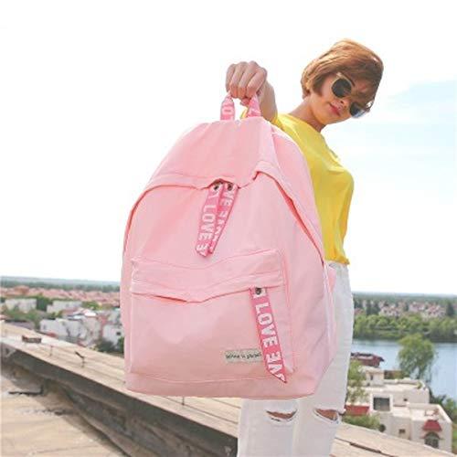 WEIXINNUO, mochila casual con cremallera estilo Hong Kong, impermeable, ligera, unisex, 33 x 15 x 35 cm, color Rosa, talla Talla única