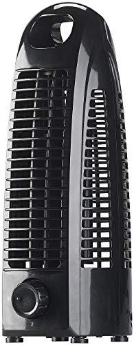 Sichler Haushaltsgeräte Ventilator klein: Turm-Tischventilator VT-110 mit 2 Geschwindigkeits-Stufen, 10 Watt (Büroventilator)