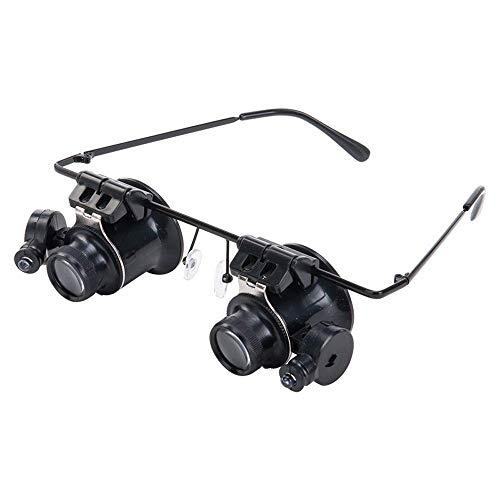 NZ-CJ [03 20 Mal Headwear Schmuck Identifikation Lupe mit LED-Lampe Binokular Mikroskop Brille Uhr Reparatur Lupe