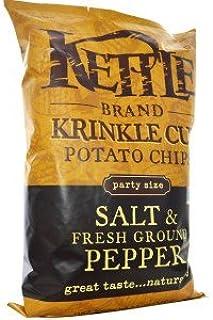 Kettle Foods, Krinkle Cut Potato Chips, Salt & Fresh Ground Pepper, 13 oz (369 g)(Pack of 2)