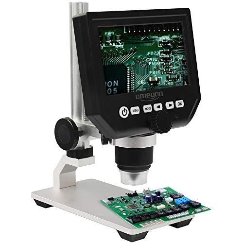 Omegon microscopio Digital DigiStar, Zoom 1x-600x, Pantalla en Color de 4,3 Pulgadas,...