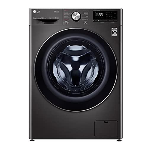 LG F6V1010BTSE Freestanding Washing Machine 10.5L 1600RPM Black Steel