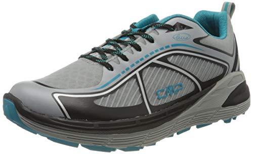 CMP – F.lli Campagnolo Nashira Maxi Shoe, Zapatillas de Trail Running Hombre, Gris Cemento Nero 75ue, 39 EU