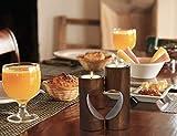 ChasBete Kerzenhalter Holz Teelichthalter Set, Unity Herz Teelicht Kerzenhalter, Romantisch Tischdeko Wohnzimmer - Braun - 7