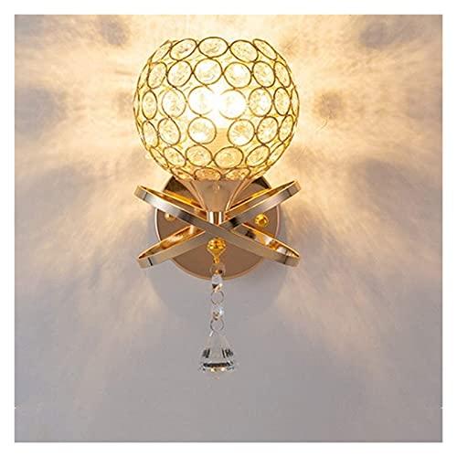 nakw88 Nueva lámpara de pared de país americano Lámparas de iluminación de pantalla de hierro forjado de cristal Longitud de oro 16 cm de alto 30 cm Sala de estar Dormitorio Estudio Restaurante lámpar