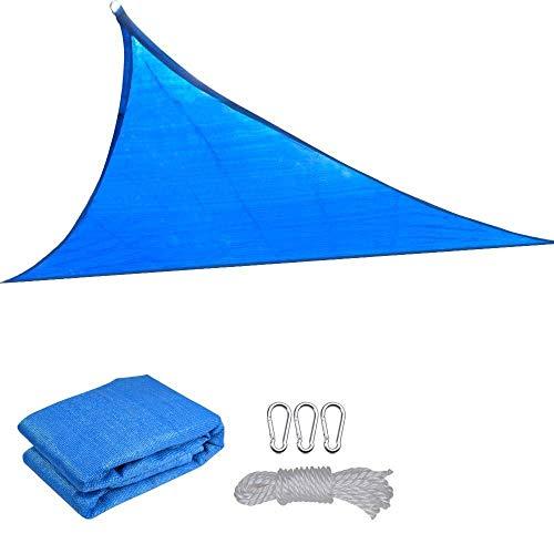 JUNWEN Lhx3.5x3.5x3.5m Triangle Sun Shade Spade Terrace Beach Garden Toldo al Aire Libre Toldo Azul   Código de Productos: LJW-1268