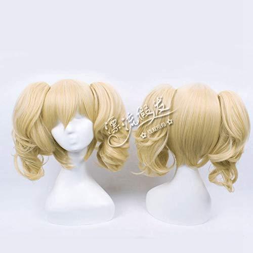 Vocaloid Kagamine Rin Hard-rkmix Ver.Peluca Lolita Blonde Clip-on 2 Ponytails Disfraz Cosplay Pelucas + Peluca CapPL-073-1