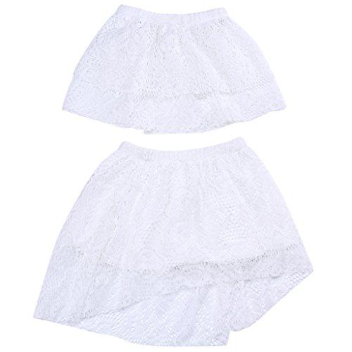 T TOOYFUL 2 stuks meisjes baby peuters kinderen wit kant bandeau top zonder bandjes doop