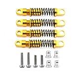 Yivibe RC Parts Accessories 4Pcs Amortiguador de Metal para Xmykc01Cm Jimny 1/16 RC Crawler Car Upgrade Parts Accessories, Gold.