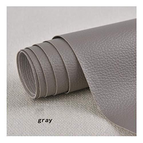 Möbelstoff Premium Bezugsstoff Zum Selbstklebender Reparatur Aufkleber Flicken - wasserabweisend - Flicken Selbstklebend Patch, Erste Hilfe für Sofas Autositze, Handtaschen , Grau, 1,37 × 0,5 m