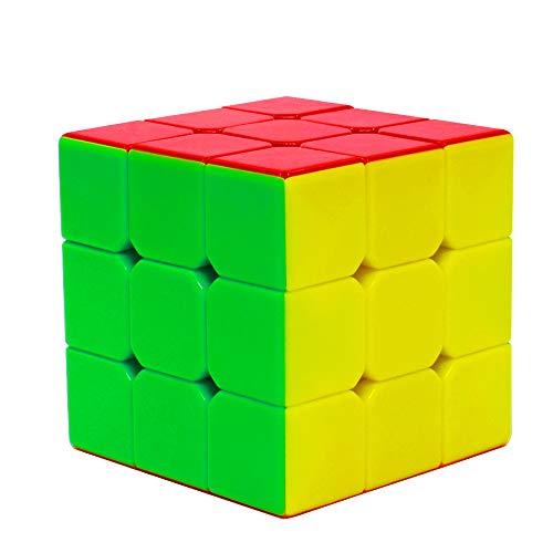 EASEHOME Stickerless 3x3x3 Speed Magic Puzzle Cube, Rompecabezas Cubo Mágico para Niños y Adultos