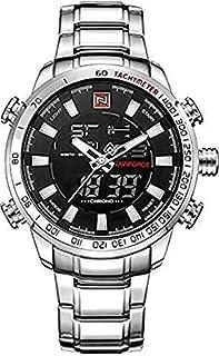 NF9093 S-B-W Naviforce Watch- For Men-silver