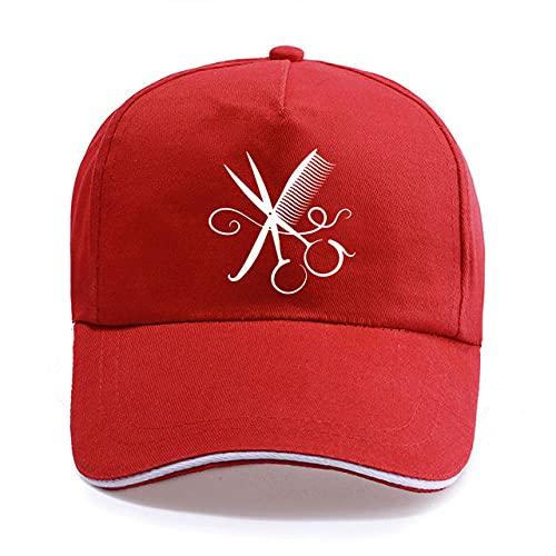 Kuletieas Gorras De Hombre Moda de Verano Peluquería Peluquería Peluquería Gorra de béisbol Unisex Mujeres Hombres Corte de Pelo de algodón Sombrero de Sala Sombreros Snapback Gorras de Camionero