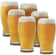 Symphony SY30424 6Pieces Set Brim Beer Glass, W 23.8 x H 16.2 x D 14.6 cm, 380ml, Clear