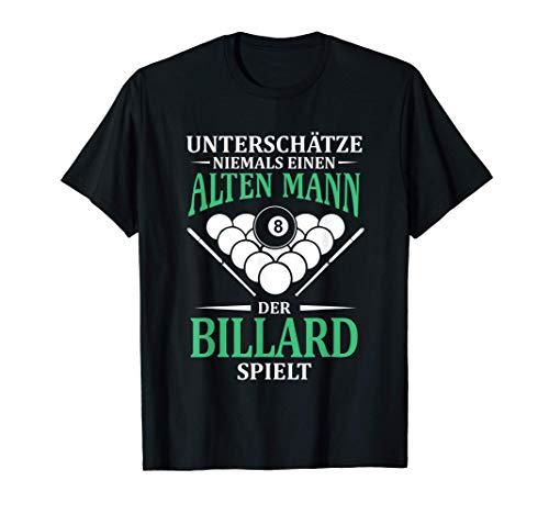 Herren Unterschätze Nie Alt Billard Pool Snooker Billardspieler T-Shirt