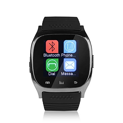 Reloj inteligente M26 con Bluetooth, OURLITIME con pantalla LED, reproductor de música, podómetro, monitor de sueño, cámara remota