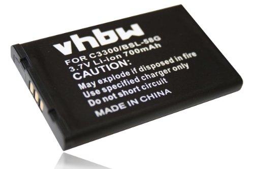 vhbw Li-Ion Akku 700mAh (3.7V) passend für Handy, Smartphone, Handy LG A7150, C3100, C3380, C3400, G650, L342i.
