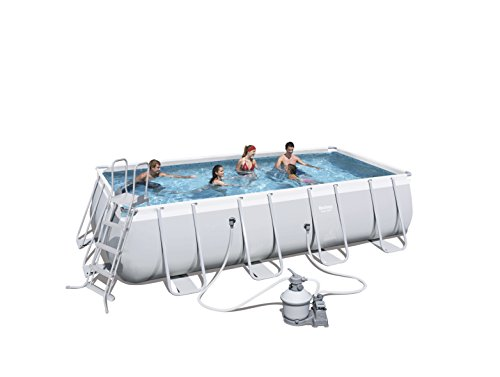 Bestway 56466 Best Way Piscina Power Steel Frame Rettangolare Cm 549X274X122, cap 14.812 Lt 246, 14812 Litri