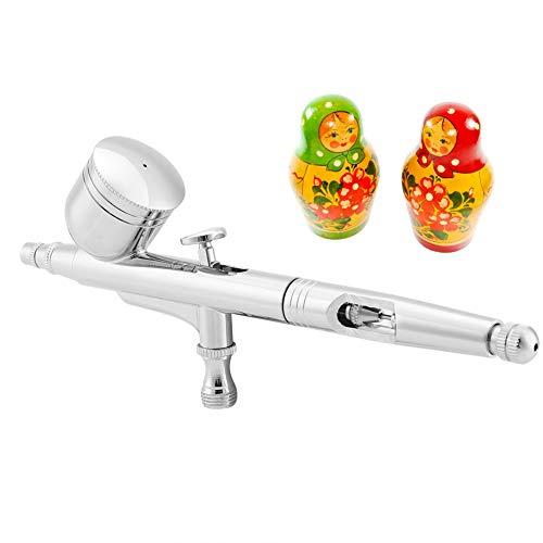 Airbrush Set Double-Action Trigger Spray Gun Paint Spray Gun Kit Air-Paint Control Gun Sprayer for Cake Making Art and Craft Projects