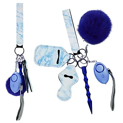 YANGMEI Llavero de seguridad para mujer y niño, con alarma personal Safe Sound Safe, turquesa,
