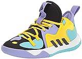 adidas Harden Stepback 2 Basketball Shoe, Black/Black/Team Yellow, 6 US Unisex Big Kid