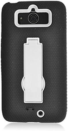 Eagle Cell Motorola Droid Mini Black Hybrid Skin Case Retail Packaging White product image