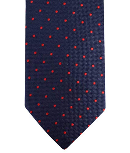 Knightsbridge Neckwear Navy/Red Kensington Spots Silk cravate de