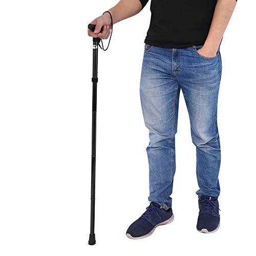 VGEBY1 Bastón Plegable/bastón/bastón de Escalada/Anciano multifunción(Negro)