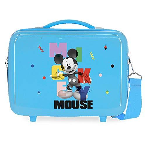 Disney Mickey´S Party Neceser Adaptable Azul 29x21x15 cms Rígida ABS 9,14L