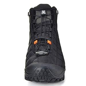 XPETI Men's Crest Thermo Waterproof Hiking Trekking Outdoor Boot (11.5, Black/Orange)