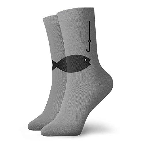 artyly Angelrute Clipart Socken Herren Damen Athletic Soccer Dress Socken Bunte Crew Socken