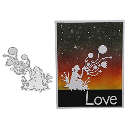 Bogji Metalen Kerstmis Snijdt Dies Stencil DIY Scrapbooking Album Stempel Papieren Kaart - Blaas een Ballon