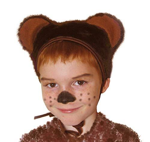 Carnevale orso bruno cappello con orecchie costume per bambini taglia S/M