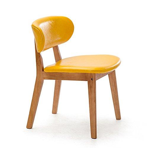 ZHANGRONG- Chaises en bois massif à manger chaise adulte fauteuil enfant -Tabouret de canapé (Couleur : Le jaune, taille : 1001)